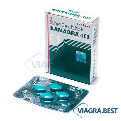 KAMAGRA 100 | Виагра 100мг | 4 таблетки (Дженерик) Купить